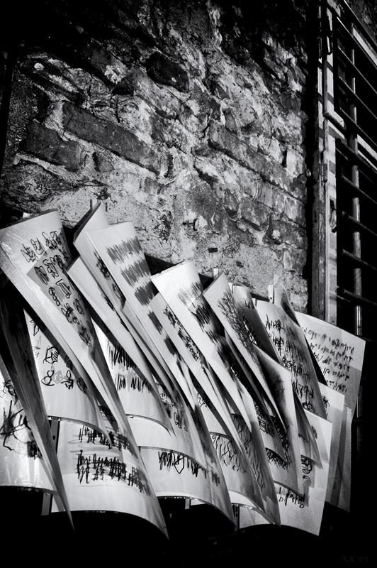 """Kunstnotiz"" Fotografie: rue23 Berlin 2013"